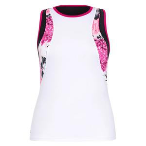 Women`s Calhoun Tennis Tank Chalk and Peonies Print