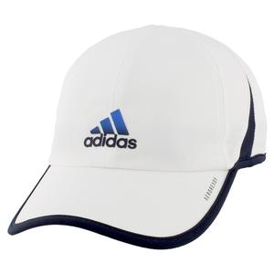 Men`s Superlite Tennis Cap White and Legend Ink Blue