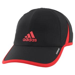 Men`s Superlite Tennis Cap Black and Scarlet