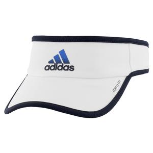 Men`s Superlite Tennis Visor White and Legend Ink Blue