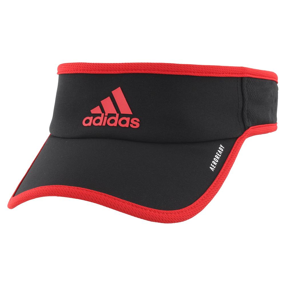 Men's Superlite Tennis Visor Black And Scarlet