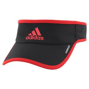 Men`s Superlite Tennis Visor Black and Scarlet