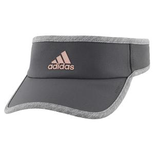 Women`s Superlite Tennis Visor Grey Six and Rose Gold