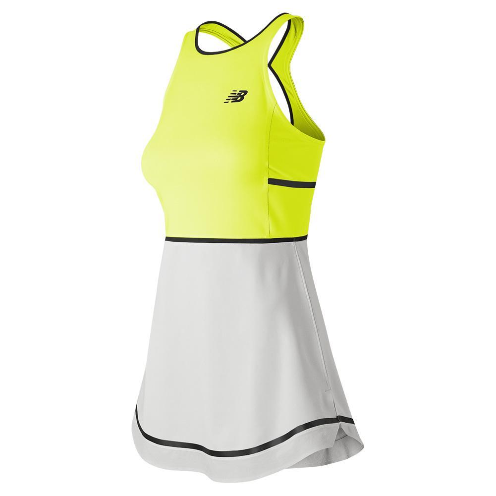 Women's Tournament Tennis Dress Neon Yellow