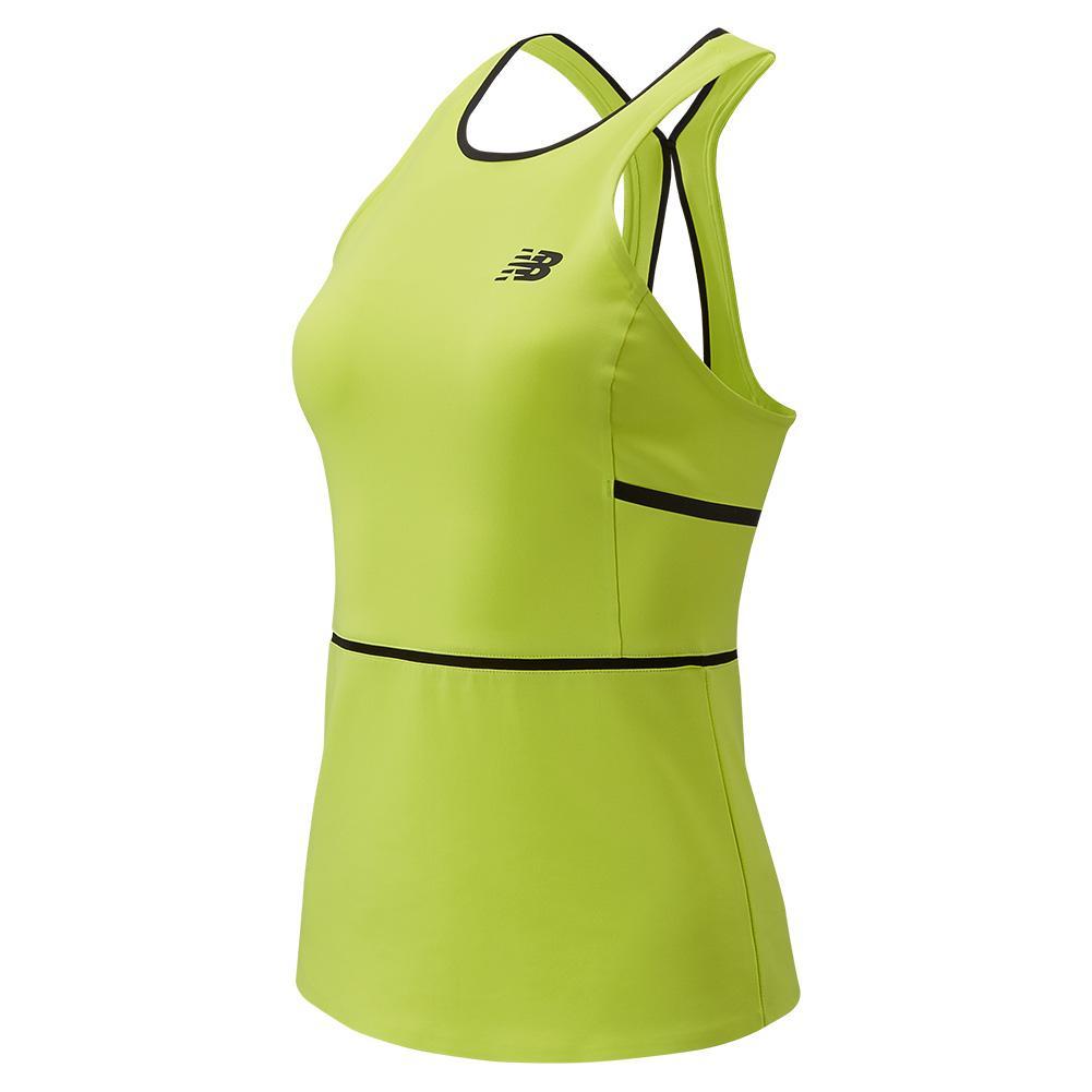 Women's Tournament Tennis Tank Neon Yellow