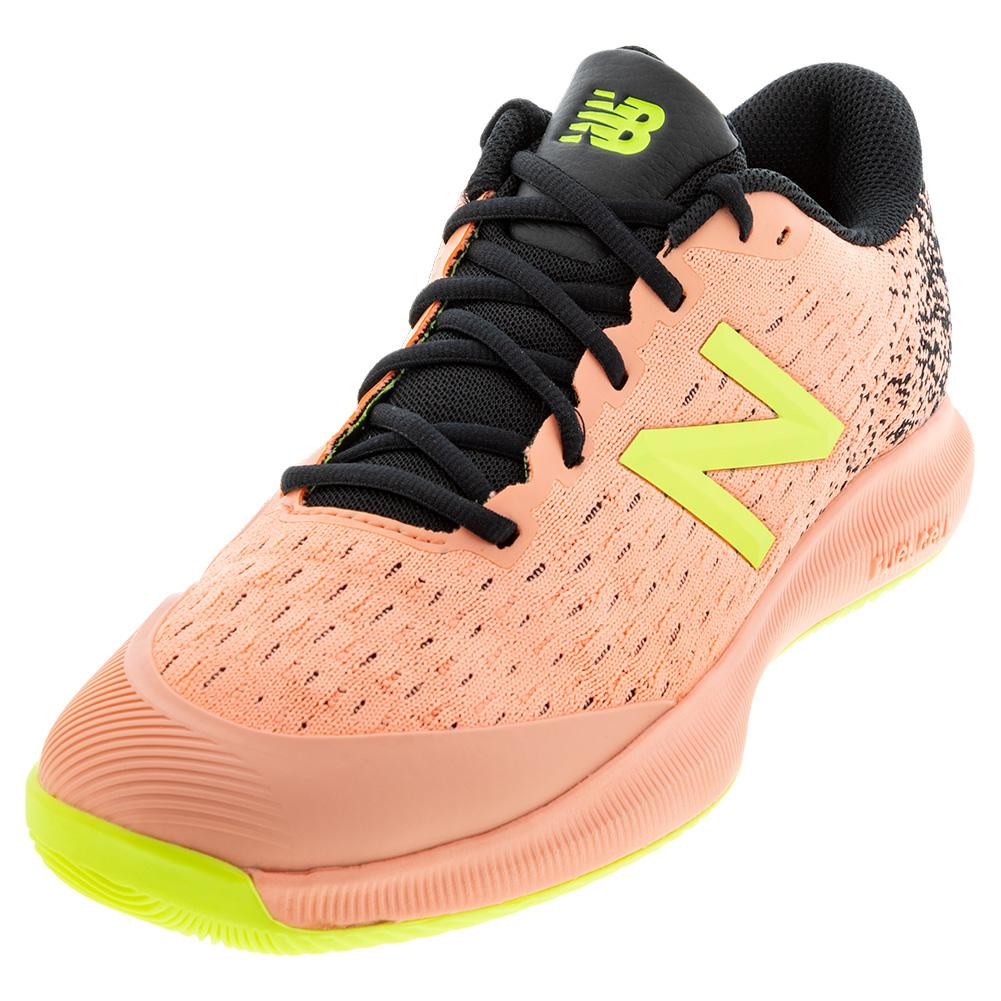 Men's Fuelcell 996v4 D Width Tennis Shoes Ginger Pink And Black