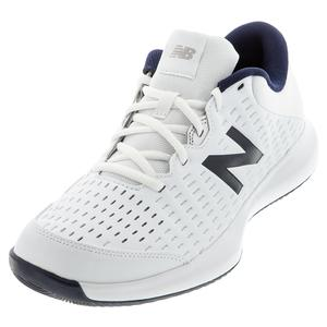 Men`s 696v4 2E Width Tennis Shoes White and Pigment