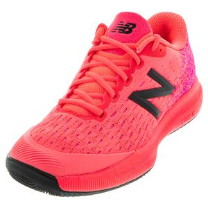 Women`s FuelCell 996v4 B Width Tennis Shoes Guava and White