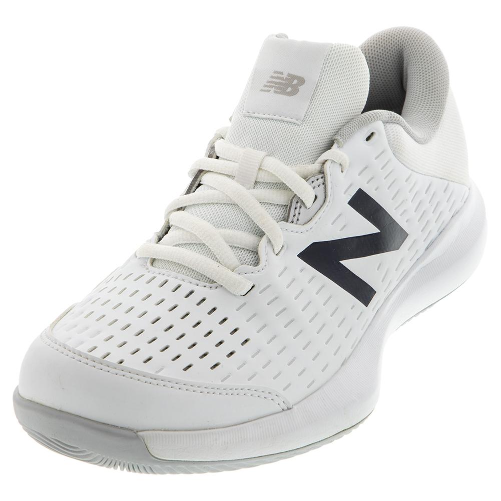 Women's 696v4 B Width Tennis Shoes White And Pigment