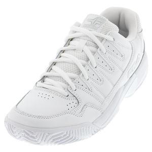 Women`s Double Bounce Pickleball Shoes White and Highrise