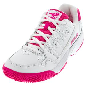 Women`s Double Bounce Pickleball Shoes White and Pink Glo