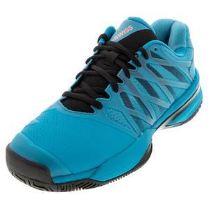 Men`s Ultrashot 2 Tennis Shoes Algiers Blue and Black