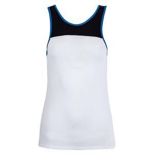 Women`s Fuse Backdrop Tennis Tank White and Black