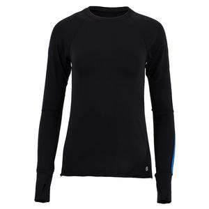 Women`s Dawn Glow Tennis Pullover Black and Blue
