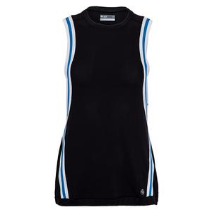 Women`s Fuse Level Tennis Tank Black and Blue
