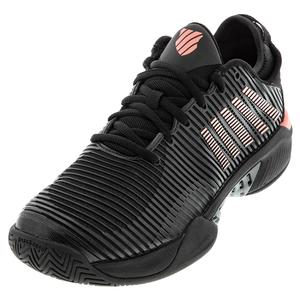 Men`s Hypercourt Supreme Tennis Shoes Black and Soft Neon Orange