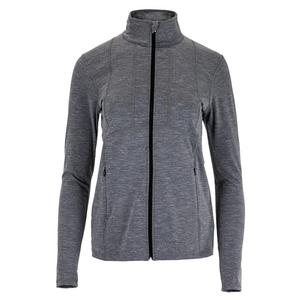 Women`s Swift Hero Tennis Jacket Heather Black