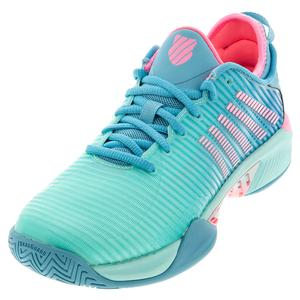Women`s Hypercourt Supreme Tennis Shoes Aruba Blue and Maui Blue