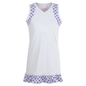 Girls` Single Ruffle Tennis Dress White
