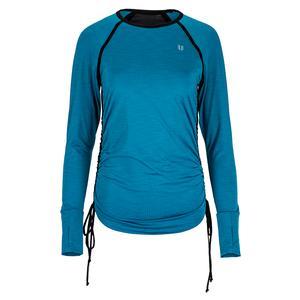 Women`s Tangle Long Sleeve Tennis Top Mosaic Blue