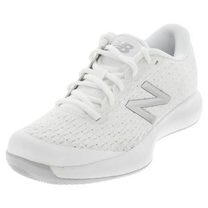 Juniors` 996v4 Tennis Shoes Sulphur White