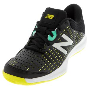 Juniors` 696v4 Tennis Shoes Black and Sulphur