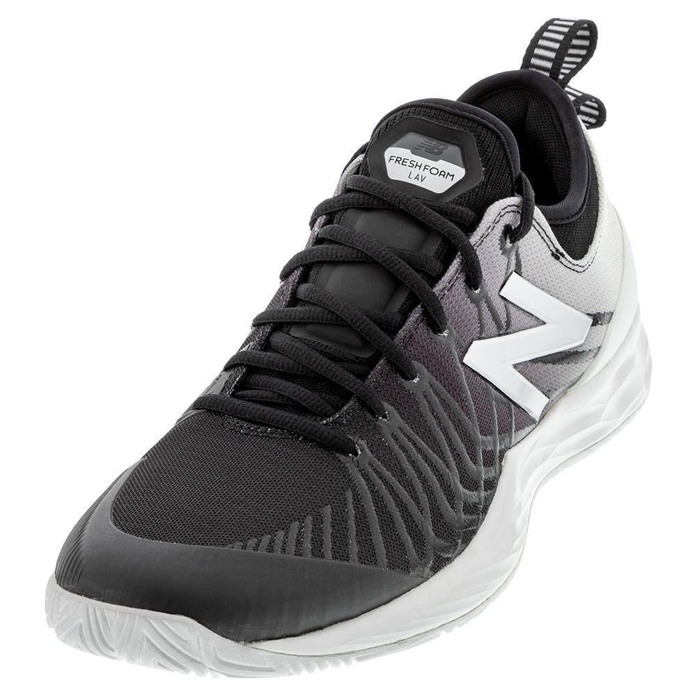 Men's Fresh Foam Lav D Width Tennis Shoes Black And White