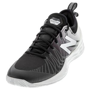 Men`s Fresh Foam LAV D Width Tennis Shoes Black and White