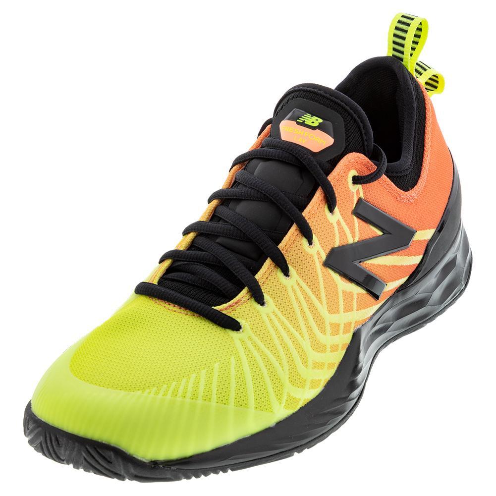 Men's Fresh Foam Lav D Width Tennis Shoes Ginger Pink And Lemon Slush