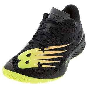 Men`s 896v3 D Width Tennis Shoes Black and Lemon Slush