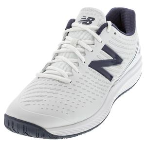 Men`s 796v2 D Width Tennis Shoes White and Navy