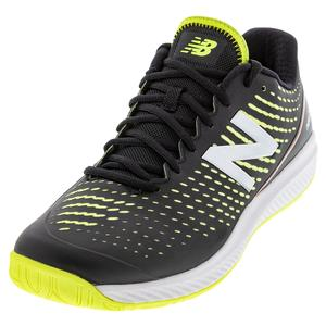 Men`s 796v2 D Width Tennis Shoes Black and Lemon Slush