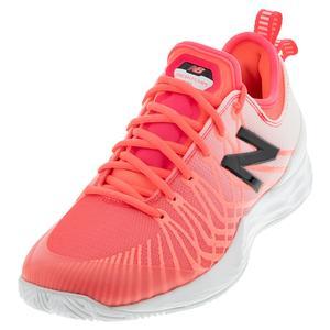 Women`s Fresh Foam LAV B Width Tennis Shoes Guava and White
