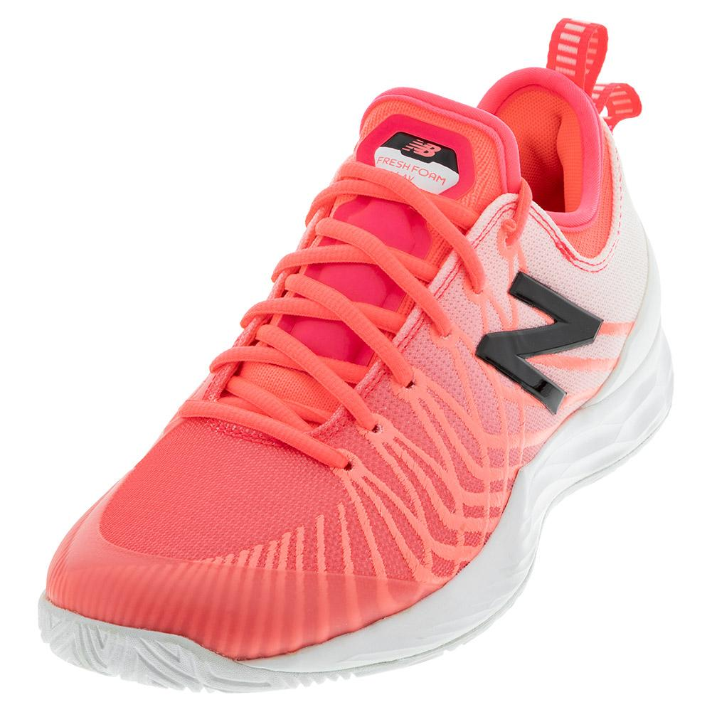 Women's Fresh Foam Lav D Width Tennis Shoes Guava And White