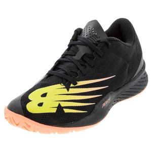 Women`s 896v3 B Width Tennis Shoes Black and Ginger Pink