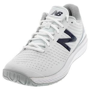 Women`s 796v2 B Width Tennis Shoes White and Navy