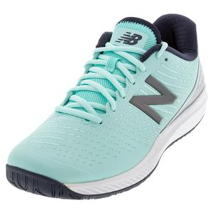 Women`s 796v2 2E Width Tennis Shoes Bali Blue and Silver