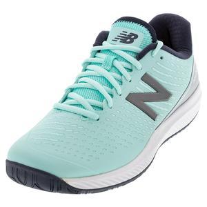 Women`s 796v2 B Width Tennis Shoes Bali Blue and Silver