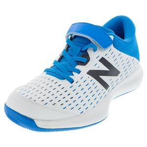 Juniors` 696v4 Tennis Shoes White and Vision Blue