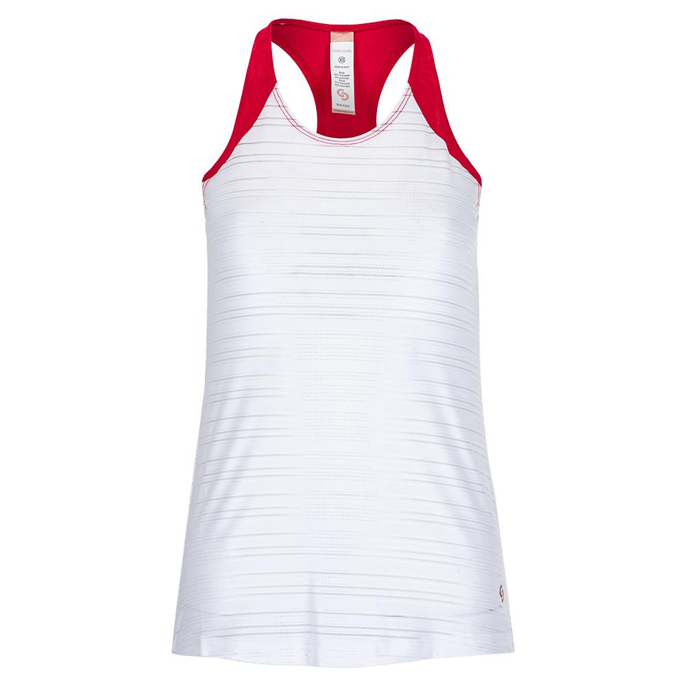 Women's Wildfire Tennis Tank White