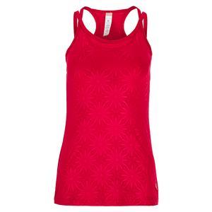 Women`s Wildfire Racerback Tennis Tank Berry Print