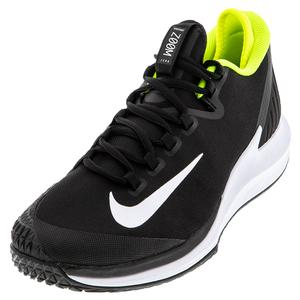 Men`s Air Zoom Zero Tennis Shoes Black and White