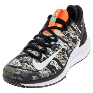 Men`s Air Zoom Zero Tennis Shoes Photon Dust and White