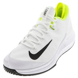 Men`s Air Zoom Zero Tennis Shoes White and Black