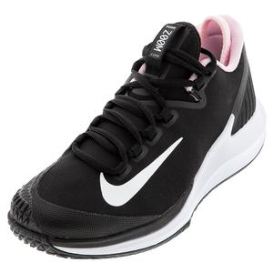 Women`s Air Zoom Zero Tennis Shoes Black and White