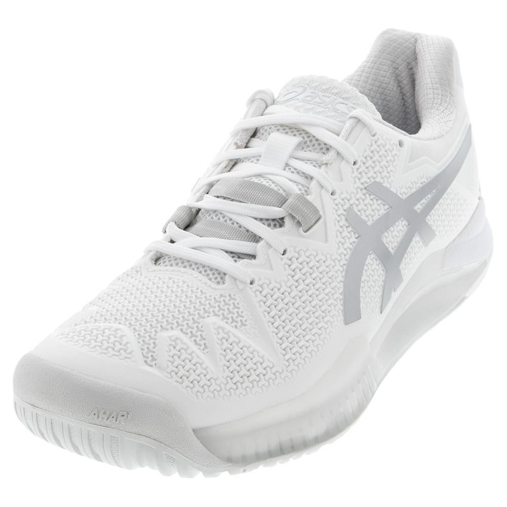 Women's Gel- Resolution 8 Tennis Shoes White And Pure Silver