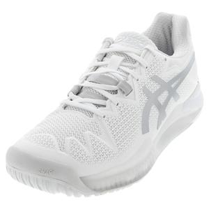 Women`s GEL-Resolution 8 Tennis Shoes White and Pure Silver