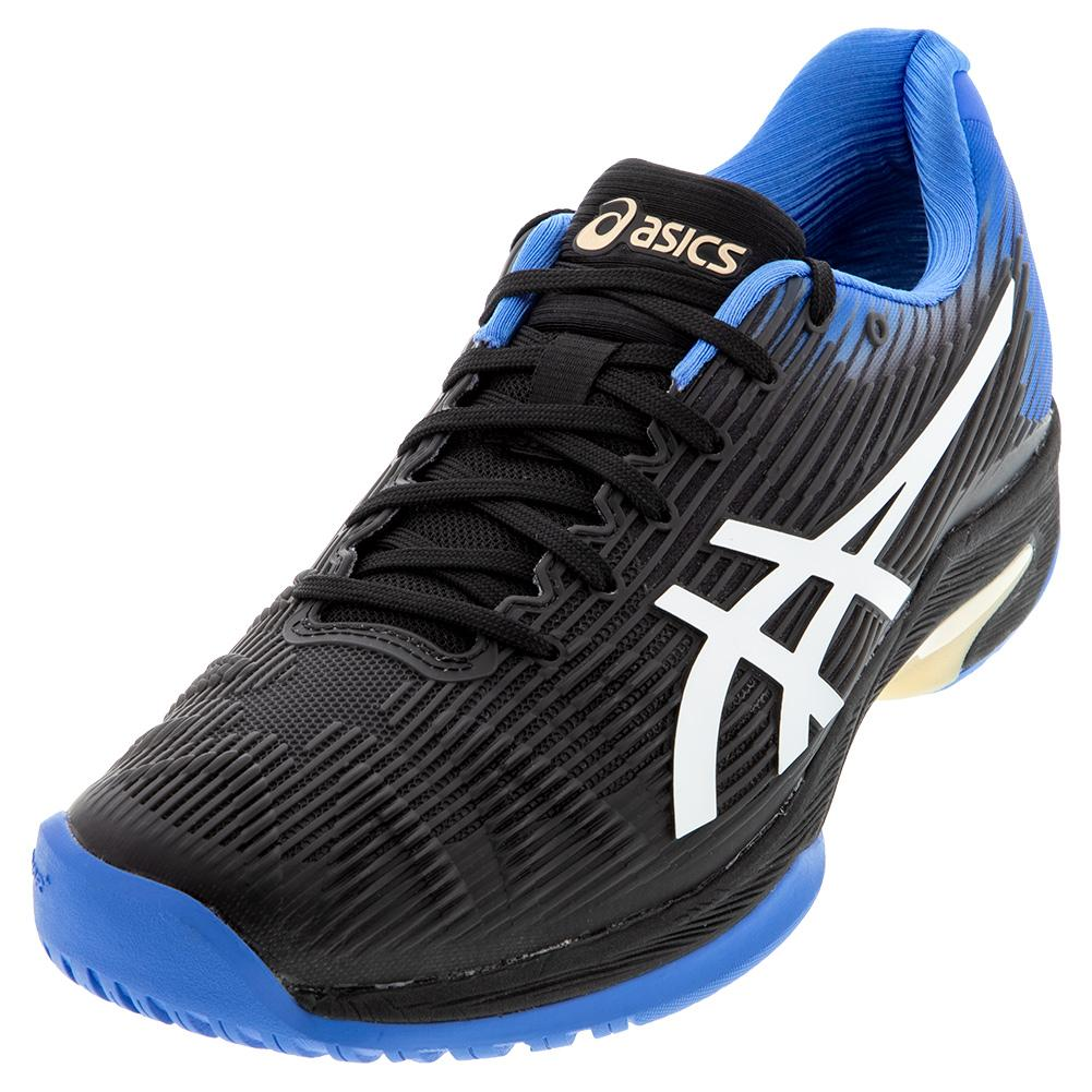 Men's Solution Speed Ff Tennis Shoes Black And Blue Coast
