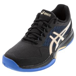 Men`s GEL-Game 7 Tennis Shoes Black and Champagne