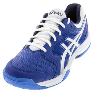 Men`s GEL-Dedicate 6 Tennis Shoes ASICS Blue and White